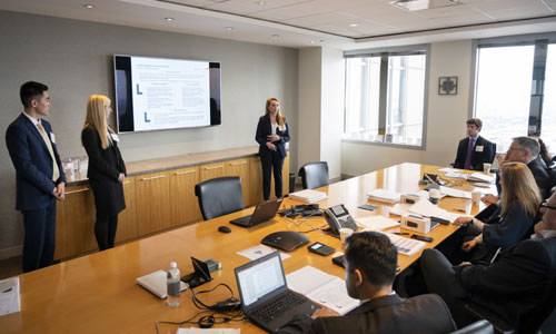 Students compete in prestigious case competitions